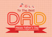 Feliz día tarjeta idea diseño padre de tu padre — Vector de stock