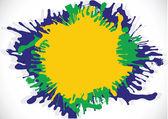 ブラジル カラー イラスト抽象的な背景フォーム水彩画 — ストックベクタ