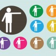 Pictograms people Man Icon Sign Symbol Pictogram — Stock Vector
