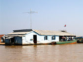 Floating village  Tonle sap lake. Cambodia — Stock Photo