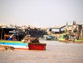 Floating village  Tonle sap lake. Cambodia — ストック写真
