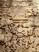 Khmer architecture Bayon temple , — Stok fotoğraf