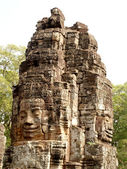 Khmer architecture Bayon temple — Stock Photo