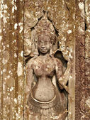 Khmer architecture Bayon temple — Stock Photo