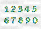 Zestaw liczb. ilustracja — Wektor stockowy