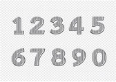 Numbers set. illustration — Stock Vector