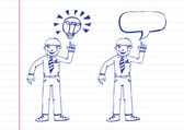 Businessmen thinking idea — Stock Vector