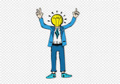 Man with light bulb — Stock Vector