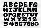 Hand drawn letters font written with a pen — Stock vektor