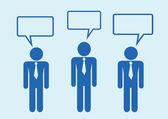 满族人想说话对话图标符号签名 pictog — 图库矢量图片