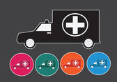 Ambulance car sign medical  — Vector de stock