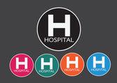 Hospital icon illustration — Stockvektor