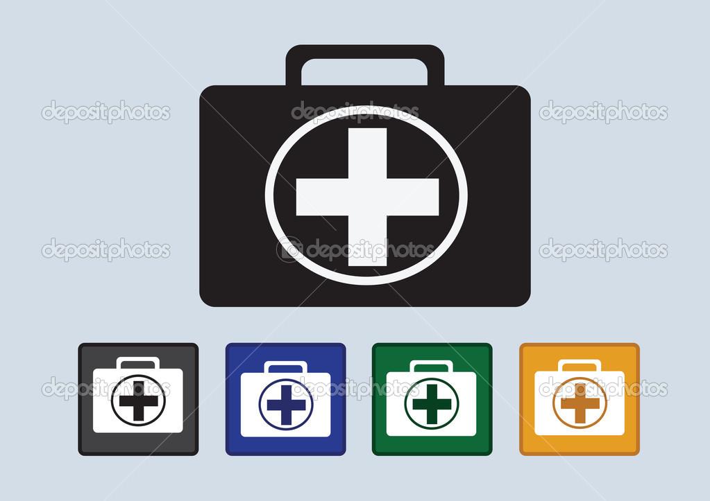 急救工具包图标 — 矢量图片作者 porjai