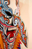 Phi Ta Khon Ghost mask  in Ghosh Mash Festival Phi Ta Khon festi — Stock Photo