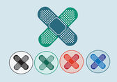 Illustration of medical bandage — Stock Vector