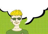 考えている人々 および吹き出しと話している人々 — ストックベクタ