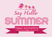 Summer concept  idea design card — Stock Vector