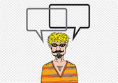 People thinking and peoples talking with dialog speech bubbles — Stock Vector