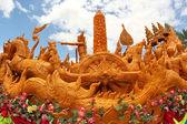Candle Festival Thai art — Stock Photo