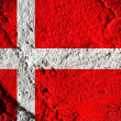 National flag of Denmark themes idea — Stock Photo