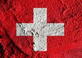 国旗的瑞士主题概念设计 — 图库照片