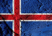 National flag of Iceland themes idea design — Stock Photo