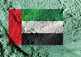 The United Arab Emirates flag UAE  — Stock Photo