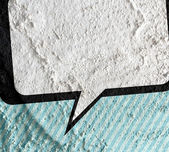 Speech Bubble Pop Art on Cement wall texture background design — Stock Photo