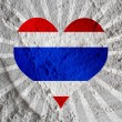 Love Thailand flag sign heart symbol  on Cement wall texture bac — Stock Photo #51161989