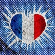 Love France flag sign heart symbol on Cement wall texture backgr — Stock Photo #51162807