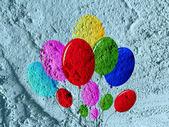 Icona di palloncini firmare il disegno di sfondo texture parete — Foto Stock