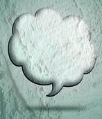 Speech Bubble  Art on Cement wall texture background design — Stockfoto