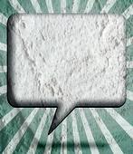 Speech Bubble  Art on Cement wall texture background design — Stock Photo