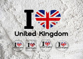 Love UK , the United Kingdom of Great Britain and Northern Irela — Stockfoto