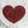 Love checkered flag sign heart symbol on Cement wall texture ba — Stock Photo #51179807