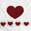 Love checkered flag sign heart symbol on Cement wall texture ba — Stock Photo #51179841