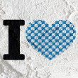 Love checkered flag sign heart symbol on Cement wall texture ba — Stock Photo #51180833
