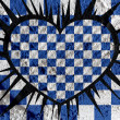 Love checkered flag sign heart symbol on Cement wall texture ba — Stock Photo #51180989