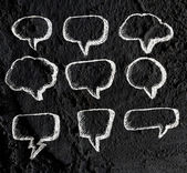 Speech Bubble background design on Cement wall texture backgroun — Stockfoto