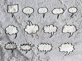 Speech Bubble background design on Cement wall texture backgroun — Stock Photo