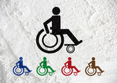 Restrooms for Wheelchair Handicap Icon design  and Pictogram  ic — Stock Photo