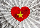 Flag of Vietnam themes idea design on wall texture background  — Stock Photo