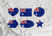 National flag of Australia themes idea design on wall texture ba — Stock Photo
