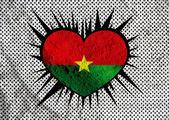 Burkina faso flaggendesign themen idee auf wand textur hintergrund — Stockfoto