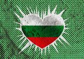 Bulgaria flag themes idea design on wall texture background  — Stockfoto