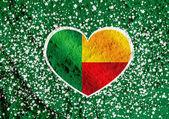 Benin flag themes idea design  on wall texture background  — Stock Photo