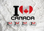 Flaga Kanady tematów projektu pomysł na ścianie tekstura tło — Zdjęcie stockowe
