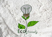 Eco friendly light bulb plant growing green and  eco energy conc — Stock Photo