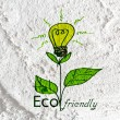 Eco friendly light bulb plant growing green and eco energy conc — Stock Photo #51300361