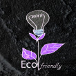 Eco friendly light bulb plant growing green and  eco energy conc — Stock Photo #51300369